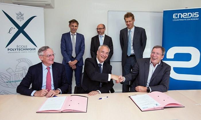 partenariat entre enedis et l u0026 39  u00c9cole polytechnique sur l